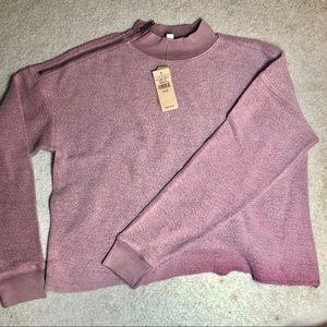 Cropped Zipper Detail Sweatshirt NWT